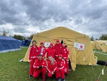 Sodelovanje članov lokalnih ekip prve pomoči na vaji SIQUAKE