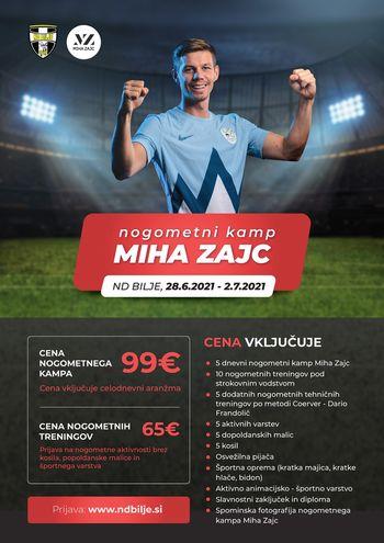 NOGOMETNI KAMP MIHA ZAJC (28.6.2021 – 2.7.2021)