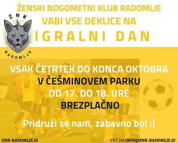 Dekliški nogomet v Češminovem parku