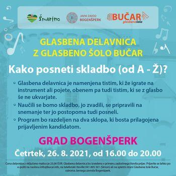 Glasbene delavnice glasbene šole Bučar