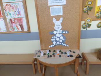 Beli zajček v Vrtcu Prebold