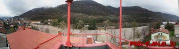 Obilne padavine povzročile porast reke Soče