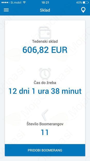 Nova brezplačna mobilna aplikacija Boomerang mobile