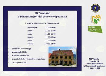 TIC Vransko - obvestilo