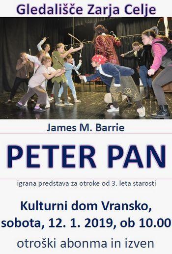 PETER PAN - otroški abonma in izven