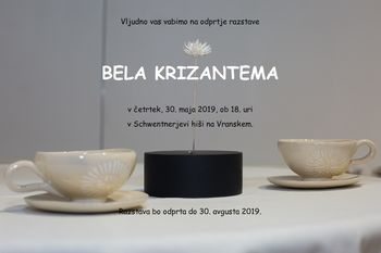 BELA KRIZANTEMA, odprtje razstave