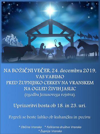 ŽIVE JASLICE - zgodba Jezusovega rojstva