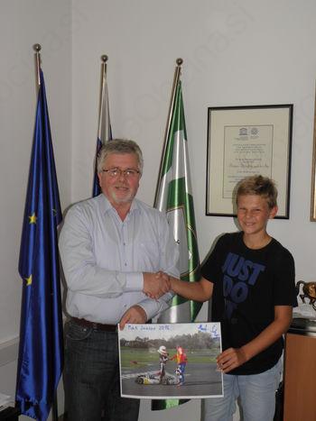 Državni prvak Mark Škulj na sprejemu pri županu