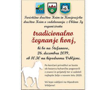 Konjerejsko društvo Krim in Turistično društvo Krim na Štefanovo vabita na Hipodrom Vrrbljene