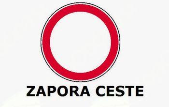 DELNA ZAPORA CESTE IG - GOLO (odsek nasproti Dobravice)