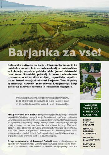 Kolesarsko doživetje na Ljubljanskem barju
