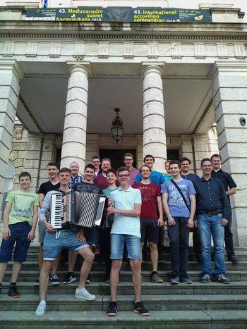 Harmonikarski orkester Glasbene šole Sevnica s tekmovanja v Puli s I. nagrado