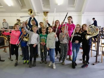Pihalnemu orkestru Glasbene šole Sevnica zlata plaketa s posebno pohvalo