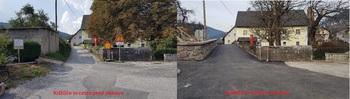 Dokončana obnova podpornega zidu, dela ceste in dela vodovoda KAPLA