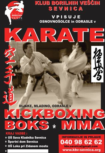 VPIS v KARATE in KICKBOXING