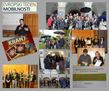 Mestna občina Slovenj Gradec postala zmagovalka Evropskega tedna mobilnosti 2016 v Sloveniji