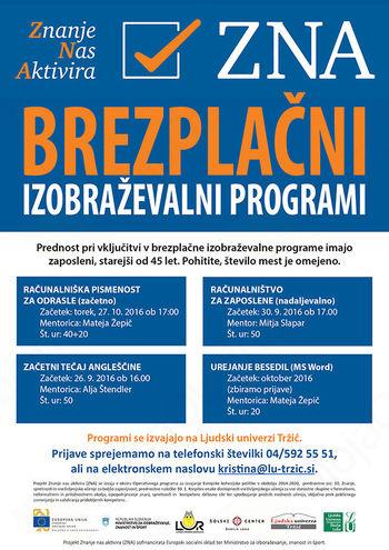Brezplačni izobraževalni programi za zaposlene