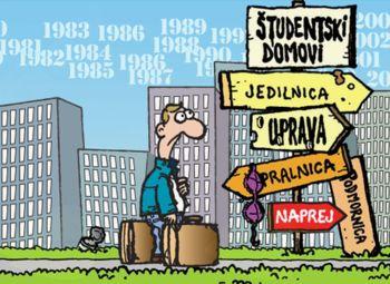Razpis za sprejem in podaljšanje bivanja študentov visokošolskega študija v študentskih domovih in pri zasebnikih že v teku