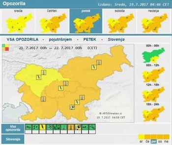 V naslednjih dneh se bo povečala toplotna obremenitev in požarna ogroženost