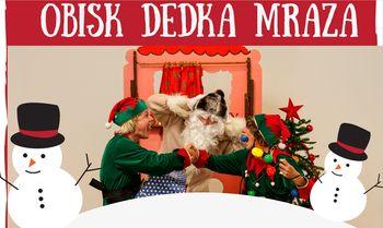 Predstava Čarobni robotek in obisk Dedka Mraza