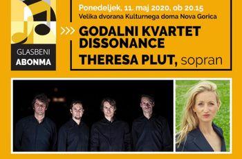 Godalni kvartet Dissonance in Theresa Plut - sopran, koncert - PRESTAVLJEN
