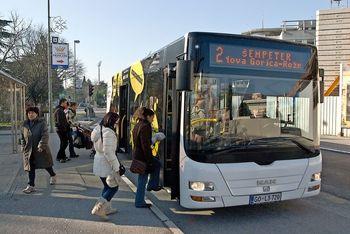 Sprememba voznega reda mestnih avtobusov