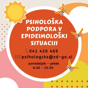 Psihološka podpora v Zdravstvenem domu Nova Gorica