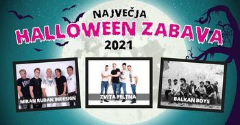 Največja Halloween zabava | Zvita Feltna, Miran Rudan Indesign, Balkan Boys