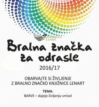 Bralna značka za odrasle 2016/17