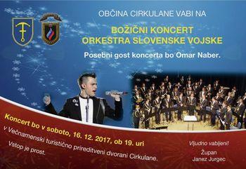 Koncert Orkestra slovenske vojske z gostom Omarjem Naberjem