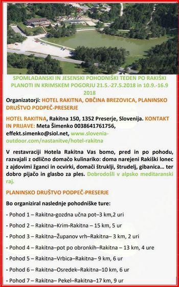 Turizem v občini Brezovica in projekt Slovenija hodi