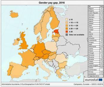 Razlika v plačah moških in žensk v EU