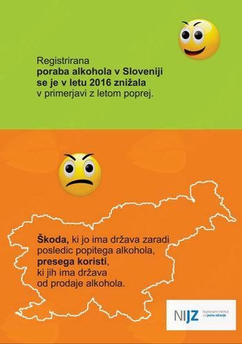 Poraba alkohola v Sloveniji spodbudno nižja