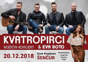 Božični koncert Kvatropircev in Eve Boto