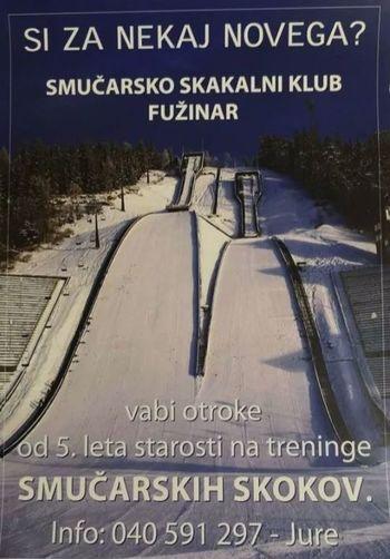 SMUČARSKO SKAKALNI KLUB FUŽINAR VABI NA PRVI TRENING