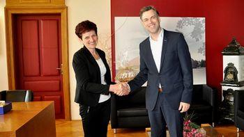 Župan sprejel kmetico leta Marijo Jakše