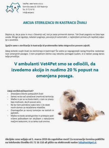 Akcija sterilizacije in kastracije hišnih živali