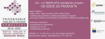 """Brezplačni izobraževalni program """"Od ideje do produkta"""""""