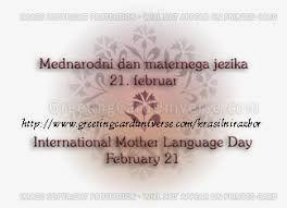 Danes je mednarodni dan maternega jezika