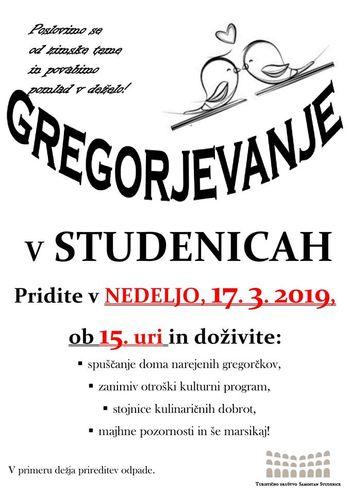Gregorjevanje v Studenicah