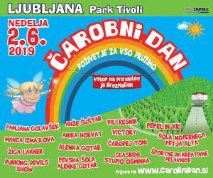 Kam z otroki v nedeljo, 2. junija?  Na Čarobni dan v Tivoliju, Ljubljana
