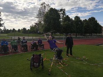 Paraplegiki Prekmurja in Prlekije na atletskem tekmovanju v Murski Soboti