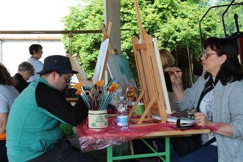 FOTO: Ustvarjalo je 20 ljubiteljskih slikarjev