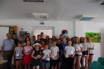 Sprejem učencev Osnovne šole Toneta Pavčka pri županu