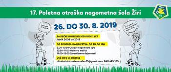 Otroška nogometna šola Žiri 2019