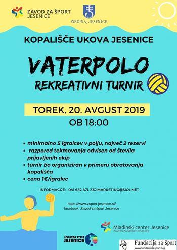 Vaterpolo - rekreativni turnir