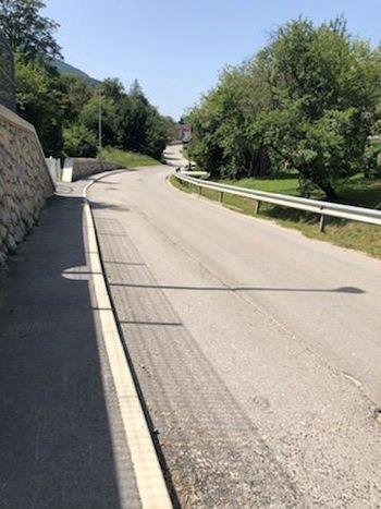 Obnova vozišča skozi naselje Zgornja Pristava