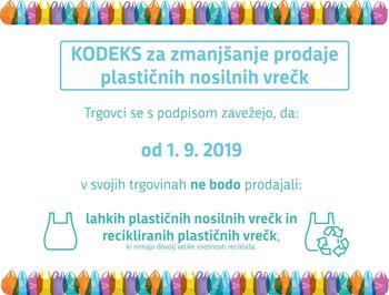 Kodeks za zmanjšanje prodaje plastičnih nosilnih vrečk