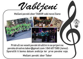 Pevsko društvo Tabor vabi nove člane