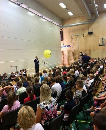 Župan in podžupana na prvi šolski dan obiskali osnovne šole